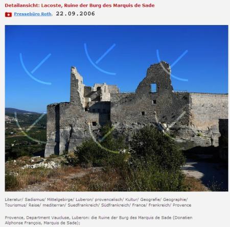 Lacoste, die Ruine der Burg des Marquis de Sade